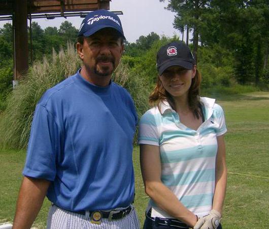 Jessica Biel Golfing