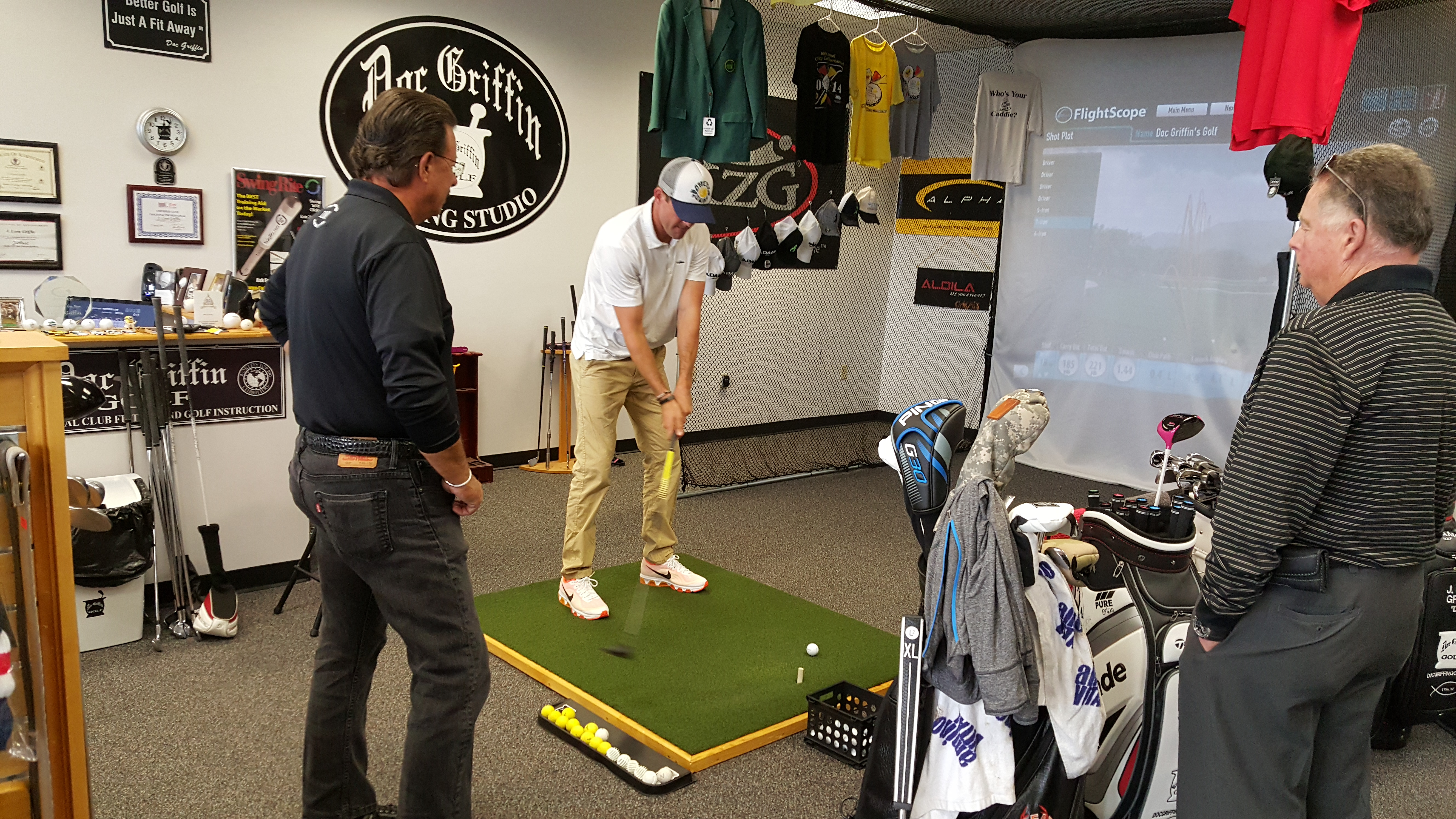Fitting Session with tour player DJ Trahan.